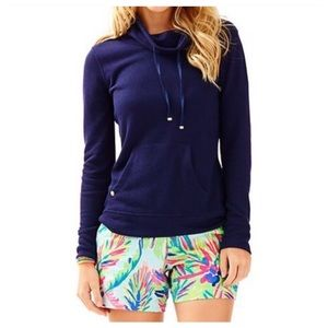 Lilly Pulitzer Tops - NWT Lilly Pulitzer Navy Hillary Pullover Size XS